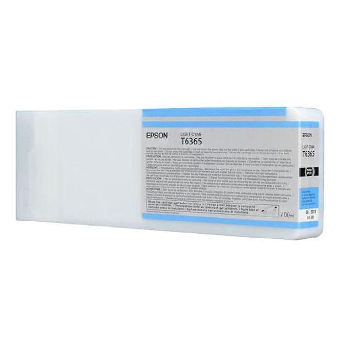 Epson T6365 (C13T636500), Light Cyan картридж для Stylus Pro 7900/9900C13T636500Картридж Epson T6365 для Stylus Pro 7900/9900 со светло-голубыми чернилами предназначен для печати на глянцевых носителях. Он служит для печати превосходных фотоснимков и рассчитан на 700 мл.