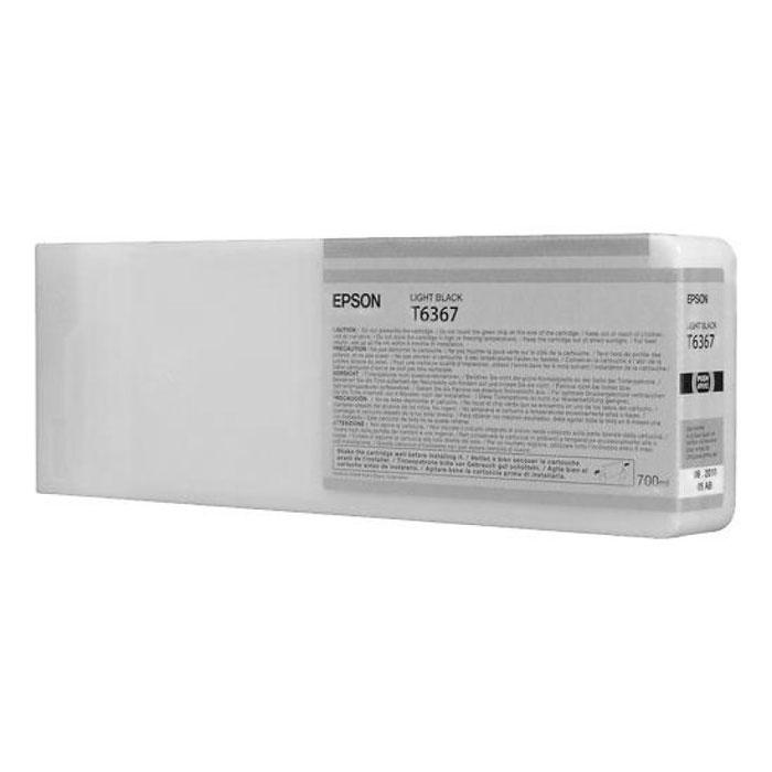 Epson T6367 (C13T636700), Light Black картридж для Stylus Pro 7900/9900C13T636700Картридж Epson T6367 для Stylus Pro 7900/9900 с серыми чернилами предназначен для печати на глянцевых носителях. Он служит для печати превосходных фотоснимков и рассчитан на 700 мл.