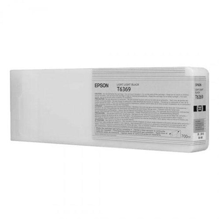 Epson T6369 (C13T636900), Light Light Black картридж для Stylus Pro 7900/9900C13T636900Картридж Epson T6369 для Stylus Pro 7900/9900 со светло-серыми чернилами предназначен для печати на матовых носителях. Он служит для печати превосходных фотоснимков и рассчитан на 700 мл.