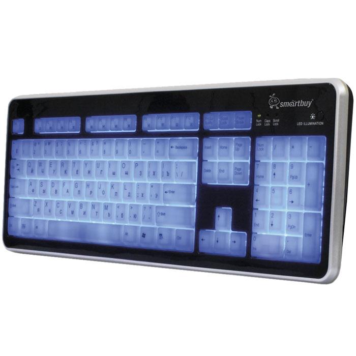 SmartBuy SBK-301 USB, Black White клавиатура мультимедийнаяSBK-301U-KWSmartBuy SBK-301 - стандартная практичная проводная клавиатура с подсветкой клавиш. Она будет удобна как для использования в играх, так и для набора текста. Мягкое нажатие клавиш обеспечивает комфортную работу в течение длительного времени. Устройство можно подключить как к персональному компьютеру, так и к ноутбуку. Благодаря подсветке клавиш SmartBuy SBK-301 удобно пользоваться даже ночью!