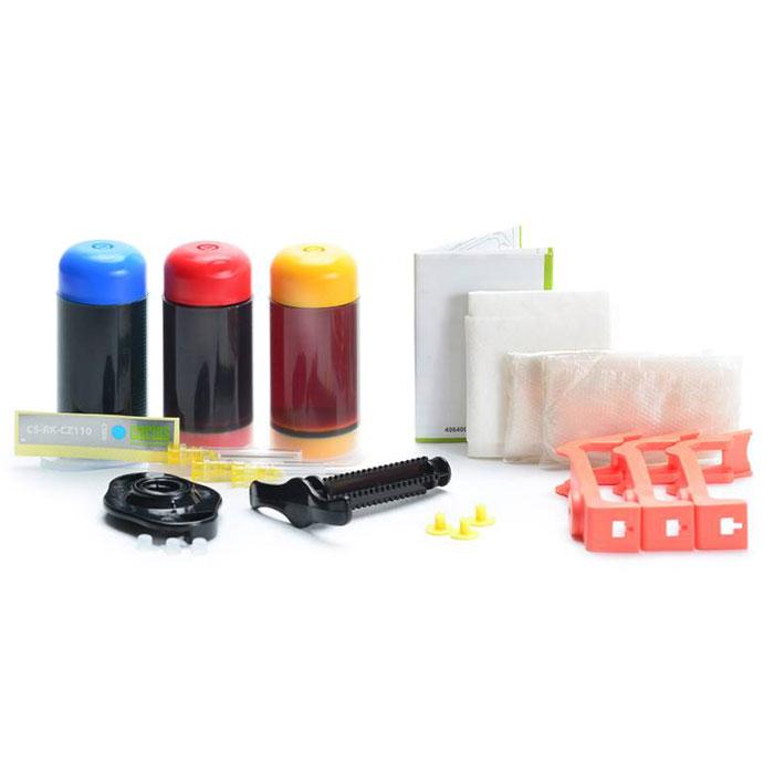 Cactus CS-RK-CZ110-112, Color заправка для принтеров HP DJ IA 3525/5525/4515/4525CS-RK-CZ110-112Заправочный комплект Cactus CS-RK-CZ110-112 для перезаправляемых картриджей HP DeskJet Ink Advantage 3525/ 5525/ 4515/ 4525.Расходные материалы Cactus для печати максимизируют характеристики принтера. Обеспечивают повышенную четкость изображения и плавность переходов оттенков и полутонов, позволяют отображать мельчайшие детали изображения. Обеспечивают надежное качество печати.