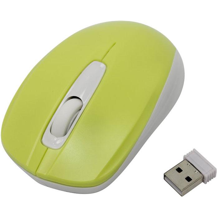SmartBuy SBM-331, Yellow White мышьSBM-331AG-LWСтильная и удобная беспроводная мышь SmartBuy SBM-331 непременно подойдет любому пользователю ПК. Оптическая светодиодная мышка работает с использованием технологии цифрового радиосигнала, не используя проводов и требует только наличия USB-порта. Устройство может работать практически на любой поверхности. Оптический сенсор обеспечивает максимально точное позиционирование курсора. Благодаря симметричной форме эта мышка подходит как правшам, так и левшам.
