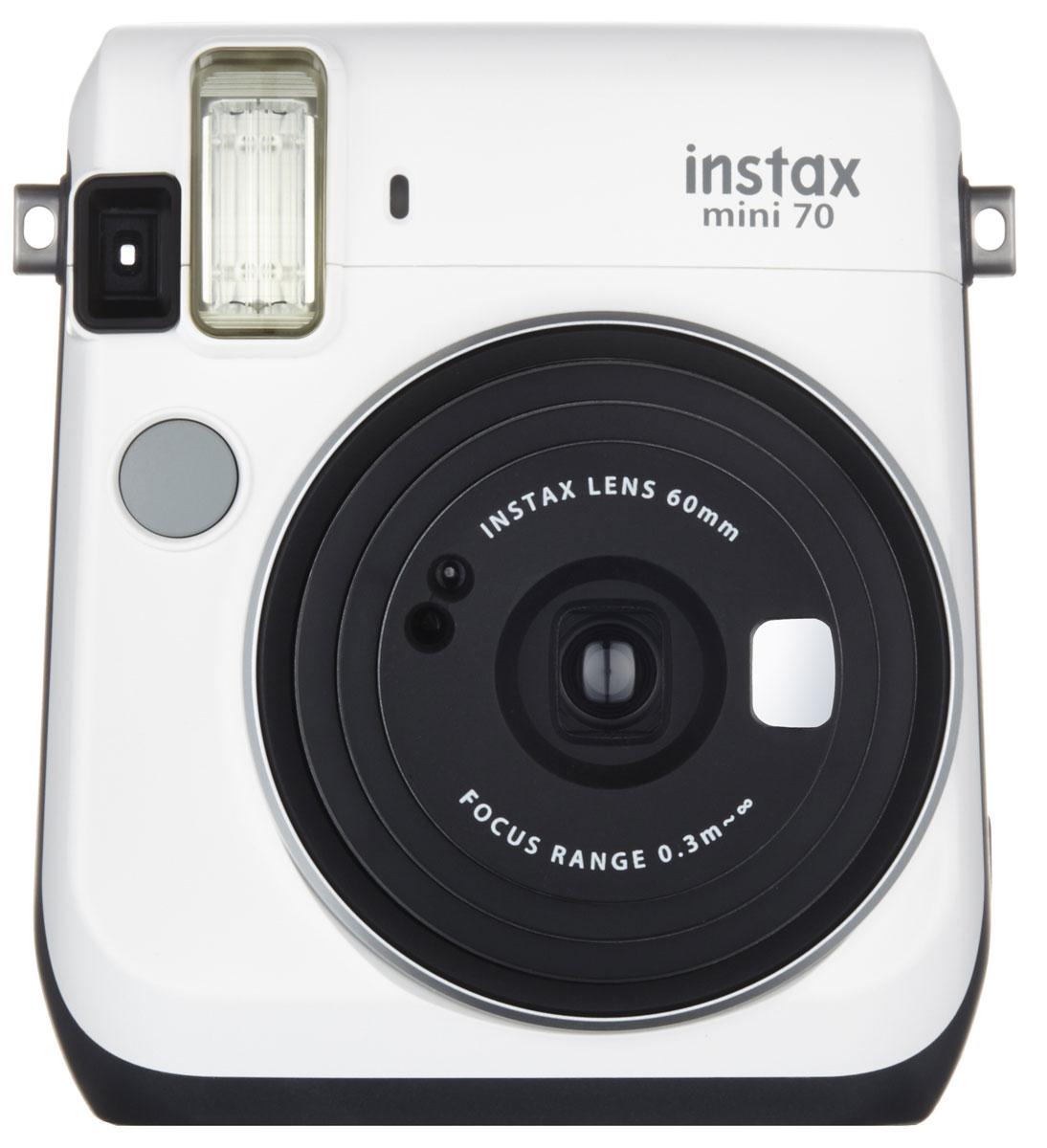 Fujifilm Instax Mini 70, White фотокамера мгновенной печати - Цифровые фотоаппараты