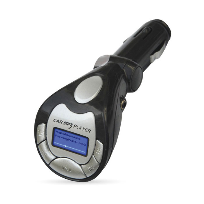 AVS F-502, Black MP3-плеер + FM-трансмиттер с дисплеем и пультом43032AVS F-502 работает с любым USB, SD, HD накопителями, а также с плеерами MP3, CD, PMP, DVD, PDA. Устройство также совместимо с любой автомобильной аудиосистемой с FM-радио. FM-трансмиттер передаёт сигналы вашего плеера (либо запись с карты памяти) в радиодиапазоне FM, обеспечивая удобное прослушивание удобной музыки через FM-тюнер аудиосистемы автомобиля, не используя наушники.Диапазон частот: 20 - 15000 ГцМаксимальный объем карты памяти: 32 ГБРадиус действия: 10 мПоддержка файлов : MP3, WMA