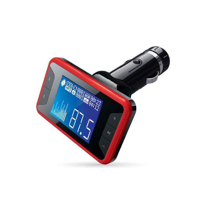 AVS F-532, Red MP3-плеер + FM-трансмиттер с дисплеем и пультомA80739SAVS F-532 работает с любым USB, microSD, HD накопителями, а также с плеерами MP3, CD, PMP, DVD, PDA. Устройство также совместимо с любой автомобильной аудиосистемой с FM-радио. FM-трансмиттер передаёт сигналы вашего плеера (либо запись с карты памяти) в радиодиапазоне FM, обеспечивая удобное прослушивание удобной музыки через FM-тюнер аудиосистемы автомобиля, не используя наушники.Диапазон частот: 20 - 15000 ГцМаксимальный объем карты памяти: 32 ГБРадиус действия: 10 мПоддержка файлов: MP3, WMAЧтение папокПоддержка RDS