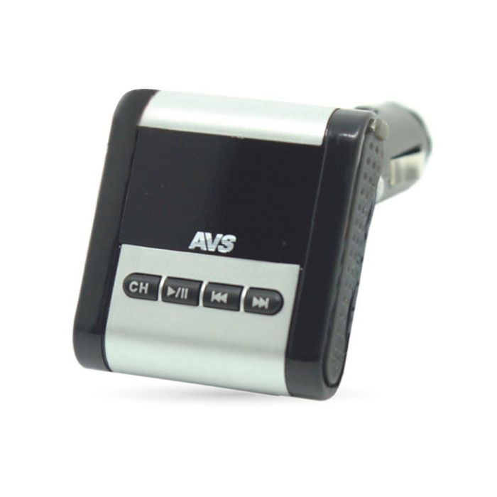 AVS F-771, Black MP3-плеер + FM-трансмиттер с дисплеем и пультом