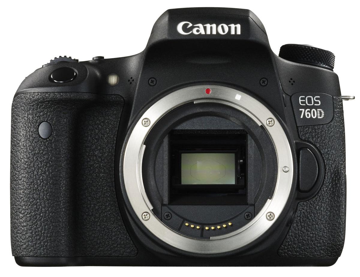 Canon EOS 760D Body цифровая зеркальная фотокамера0021C001Достигайте новых уровней мастерства в фотосъемке благодаря зеркальной камере Canon EOS 760D.Настраиваемая 19-точечная система автофокусировки обеспечивает фокусировку на определенном объекте при съемке спорта, портретов или пейзажей. Каждая точка фокусировки является точкой «крестового типа», то есть вы можете быстро и точно зафиксировать ее на объекте, чтобы добиться превосходных результатов при съемке спорта, портретов и пейзажей.Быстрый процессор DIGIC 6 позволяет снимать со скоростью до 5 кадров/с и поможет не упустить решающий момент. Датчик замера экспозиции с разрешением 7560 пикселей обеспечивает стабильную и точную экспозицию с обнаружением мерцания.Мерцающий свет, например от флуоресцентных ламп, может привести к нестабильной яркости и цвету при съемке. EOS 760D может распознавать такие условия и рассчитывать время каждого снимка так, чтобы оно совпадало с моментами максимальной яркости источника мерцающего освещения, для создания качественных снимков.24,2-мегапиксельный датчик изображения способен запечатлеть мельчайшие детали, предлагая возможности обрезки и увеличения изображений для печати, а процессор DIGIC 6 поможет не упустить решающий момент.Снимайте великолепное видео Full HD с кинематографической глубиной резкости, используя технологии автофокусировки Hybrid CMOS AF III в камере EOS 760D. Она обеспечивает плавную фокусировку и слежение за объектом — объект выглядит резким и остается в фокусе, в то время как задний план остается красиво размытым. Поддержка MP4 обеспечивает легкую загрузку и передачу видео.Мгновенно передавайте фотографии с помощью соединения Wi-Fi и NFC в камере ЕО 760D. Просто коснитесь одного устройства другим и передавайте снимки на смартфон, планшет или Canon Connect Station.Снимайте со смартфона и планшетаУдаленная съемка позволяет делать фотографии и записывать видео под разными углами удаленно с помощью мобильного устройства. Вы также можете создавать автопортреты ил