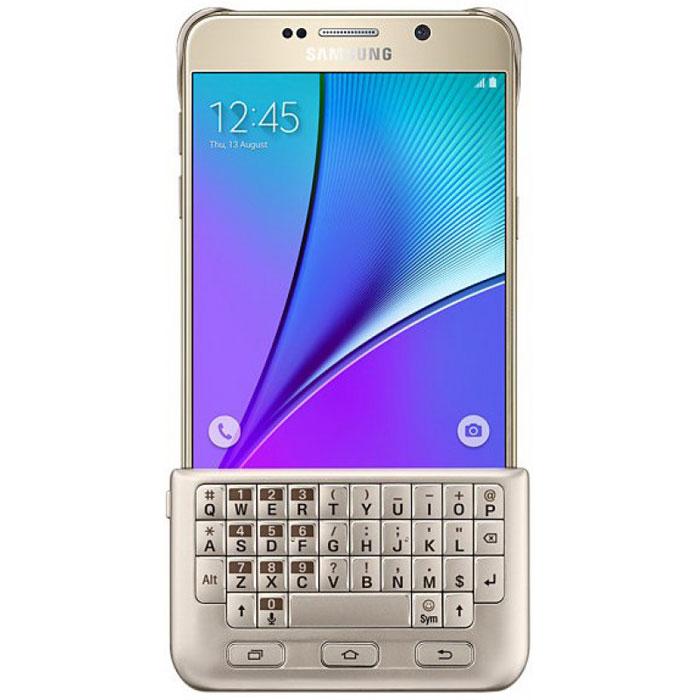 Samsung EJ-CN920 чехол-клавиатура для Galaxy Note 5, Gold samsung n920c galaxy note 5 64gb gold