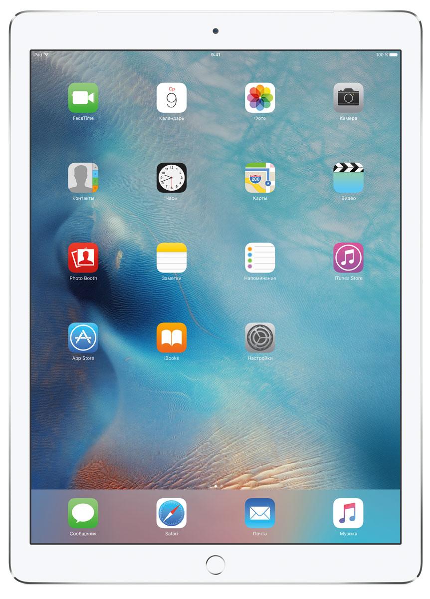 Apple iPad Pro Wi-Fi + Cellular 128GB, SilverML2J2RU/AС Apple iPad Pro мир ваших увлечений станет ещё обширнее. Он оснащён потрясающим 12,9-дюймовым дисплеем Retina и улучшенной технологией Multi-Touch, а его производительность почти в два раза превосходит iPad Air 2. Новый iPad Pro не просто больше - с ним вы получите возможность работать и творить в совершенно иных масштабах.Дисплей Retina с диагональю 12,9 на iPad Pro - самый совершенный из всех. Он на 78% больше, чем у iPad Air 2, а под его стеклом уместились обновлённая подсистема Multi-Touch и самое высокое разрешение среди всех устройств iOS - 5,6 миллиона пикселей. Его потрясающая чёткость и впечатляющие цвета, включая насыщенный чёрный, делают любое занятие, от обработки фотографий до игр со сложной графикой, невероятно увлекательным.В корпус данной модели встроено четыре передовых динамика, которые обеспечивают живой и объёмный звук. И впервые отсеки для них вырезаны прямо в корпусе unibody. Благодаря новой архитектуре динамики получили на 61% больше места, что расширило диапазон частот и втрое повысило их мощность по сравнению с предыдущими моделями iPad.Динамики в iPad Pro - это не только качественный звук, но и умная технология. Все они воспроизводят звук низких частот, а верхние - ещё и высоких. Кроме того, динамики автоматически распознают вертикальное или горизонтальное положение устройства. Как ни крути, iPad Pro всегда гарантирует живое и сбалансированное звучание.Smart Connector - новый элемент интерфейса, который использует проводящий материал Smart Keyboard для передачи сигнала в обоих направлениях. Он обеспечивает питание клавиатуры Smart Keyboard (продается отдельно) от iPad Pro и передаёт импульс от клавиш обратно на iPad Pro. Пользоваться разъёмом Smart Connector проще простого. Вставьте iPad Pro в Smart Keyboard - так же, как в чехол Smart Cover - и начинайте работать.Производительность процессора A9X в 1,8 раза выше, чем у iPad Air 2, а скорость его работы и отклика просто поражает. iPad P