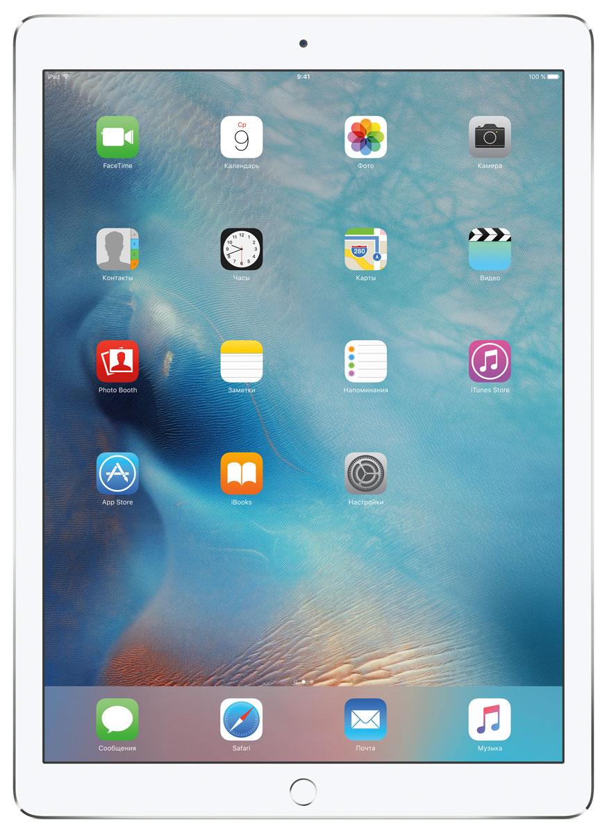 Apple iPad Pro Wi-Fi 128GB, SilverML0Q2RU/AС Apple iPad Pro мир ваших увлечений станет ещё обширнее. Он оснащён потрясающим 12,9-дюймовым дисплеем Retina и улучшенной технологией Multi-Touch, а его производительность почти в два раза превосходит iPad Air 2. Новый iPad Pro не просто больше - с ним вы получите возможность работать и творить в совершенно иных масштабах.Дисплей Retina с диагональю 12,9 на iPad Pro - самый совершенный из всех. Он на 78% больше, чем у iPad Air 2, а под его стеклом уместились обновлённая подсистема Multi-Touch и самое высокое разрешение среди всех устройств iOS - 5,6 миллиона пикселей. Его потрясающая чёткость и впечатляющие цвета, включая насыщенный чёрный, делают любое занятие, от обработки фотографий до игр со сложной графикой, невероятно увлекательным.В корпус данной модели встроено четыре передовых динамика, которые обеспечивают живой и объёмный звук. И впервые отсеки для них вырезаны прямо в корпусе unibody. Благодаря новой архитектуре динамики получили на 61% больше места, что расширило диапазон частот и втрое повысило их мощность по сравнению с предыдущими моделями iPad.Динамики в iPad Pro - это не только качественный звук, но и умная технология. Все они воспроизводят звук низких частот, а верхние - ещё и высоких. Кроме того, динамики автоматически распознают вертикальное или горизонтальное положение устройства. Как ни крути, iPad Pro всегда гарантирует живое и сбалансированное звучание.Smart Connector - новый элемент интерфейса, который использует проводящий материал Smart Keyboard для передачи сигнала в обоих направлениях. Он обеспечивает питание клавиатуры Smart Keyboard (продается отдельно) от iPad Pro и передаёт импульс от клавиш обратно на iPad Pro. Пользоваться разъёмом Smart Connector проще простого. Вставьте iPad Pro в Smart Keyboard - так же, как в чехол Smart Cover - и начинайте работать.Производительность процессора A9X в 1,8 раза выше, чем у iPad Air 2, а скорость его работы и отклика просто поражает. iPad Pro реагируе