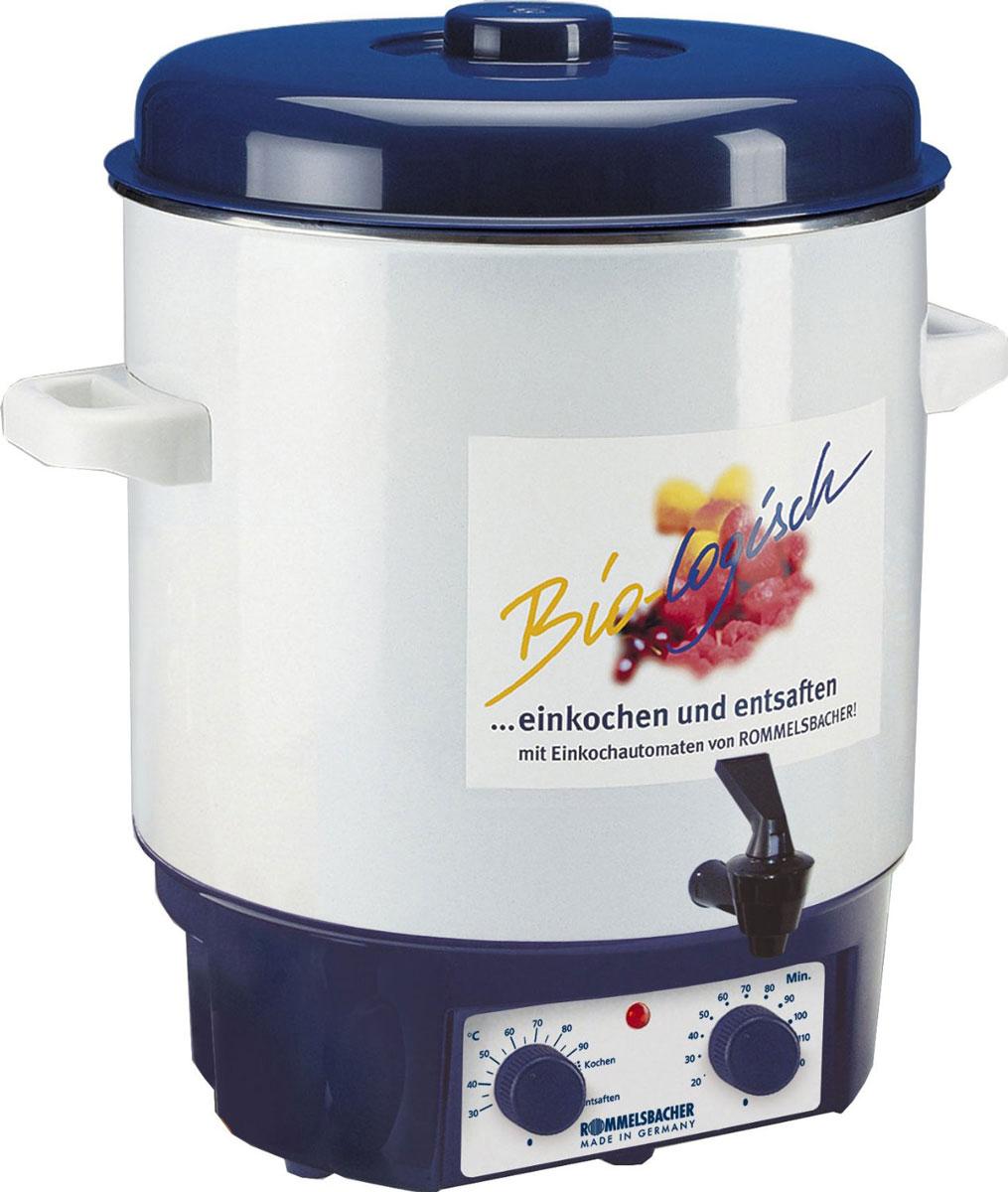 Rommelsbacher KA 1804 глинтвейн-мейкерKA 1804Глинтвейн-мейкер Rommelsbacher KA 1804позволяет в течение всего года наслаждаться плодами лета. Фруктовые соки, глинтвейн и варенье приготавливаются легко, просто и удобно. Также прибор прекрасно поддерживает горячую температуру напитков. Rommelsbacher KA 1804можно использовать для стерилизации банок, а благодаря удобному крану можно наливать горячий глинтвейн, пунш и другие напитки.Контрольная лампа нагреваВстроенный термостатТаймер: 120 минутДвойной слой прочной эмали на баке
