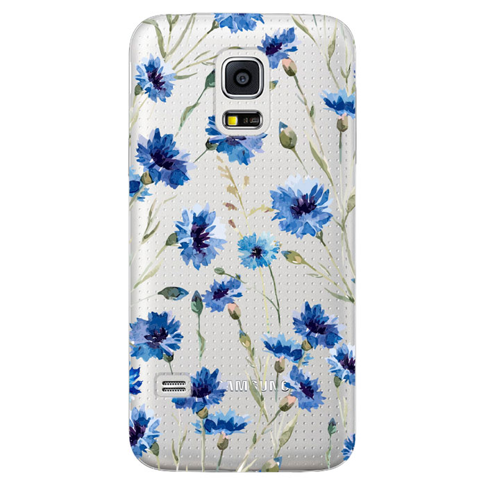 Deppa Art Case чехол для Samsung Galaxy S5 mini, Flowers (василек) чехол deppa art case и защитная пленка для samsung galaxy s6 edge person путин карта мира