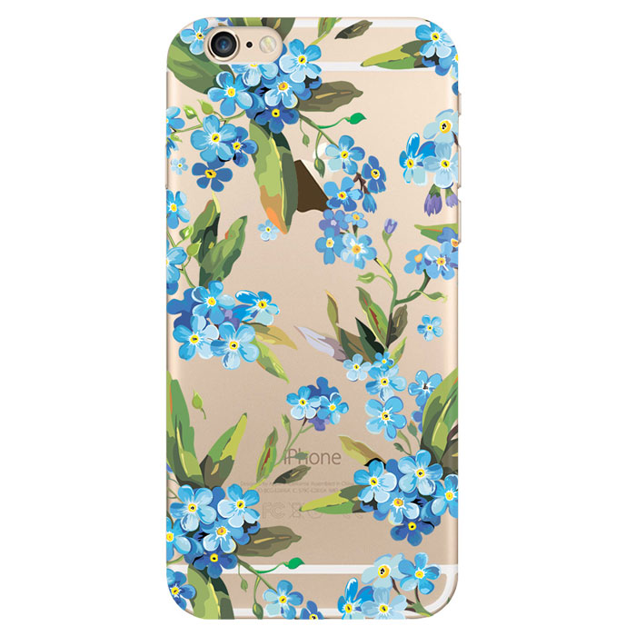 Deppa Art Case чехол для Apple iPhone 6/6s, Flowers (незабудка) deppa deppa art case world of tanks зверобой для apple iphone 6 6s чехол бампер