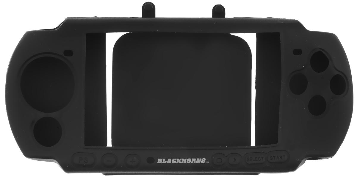 Black Horns Kit 3 in 1 набор аксессуаров для Sony PSP 3000, BlackBH-PSP02611H(R)_черныйНабор аксессуаров Black Horns Kit 3 in 1 разработан специально для Sony PSP 3000.Чехол надежно защитит вашу консоль PSP 3000 не только во время переноски, но и при использовании, надежно держится в руках и не скользит. Он также обеспечивает свободный доступ ко всем клавишам и кнопкам управления. Удобный ремешок на руку убережет устройство от падений, а очищающая подушечка очистит экран вашей портативной игровой приставки.В комплект также входит защитная пленка на экран, которая защищает его от царапин и потертостей. Для удобного наклеивания аксессуара предназначена очищающая салфетка и пластинка, позволяющая приклеить пленку без пузырей.
