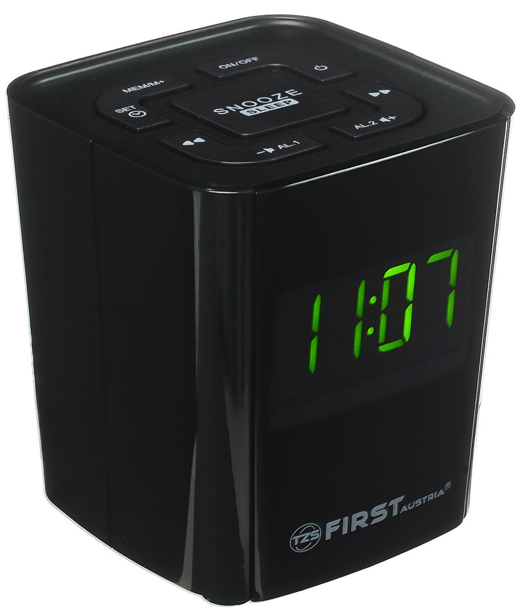 First FA-2406-2, Black радиочасыFA-2406-2 BlackFirst FA-2406-2 - компактные радиочасы с LED-дисплеем, диагональ которого 0,7. Устройство имеет кварцевый стабилизатор, а также различные дополнительные функции: двойной будильник, регулировка громкости, пробуждение под музыку. Вы также можете активировать отложенный сигнал чтобы поспать еще немного времени. Будильник отключится и прозвенит через 9 минут.Резервное питание: 1 батарейка CR2032 (в комплект не входит)