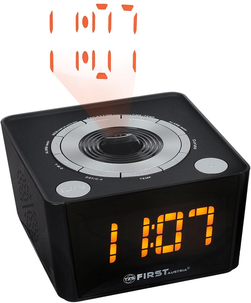 First FA-2421-5, Black радиочасы c проектором - Радиобудильники и проекционные часы