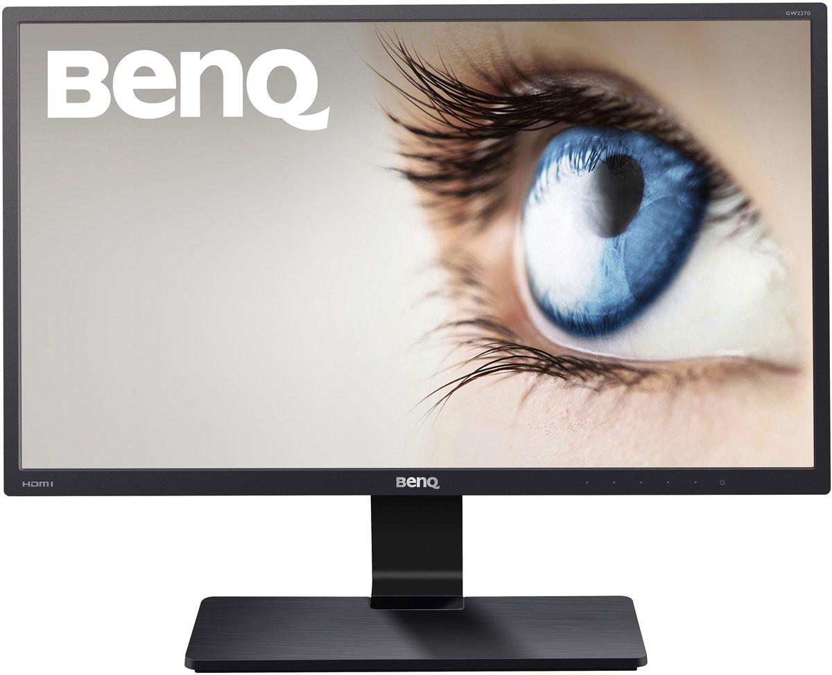 BenQ GW2270H монитор9H.LE6LB.QBEМинималистичный дизайн корпуса монитора BenQ GW2270H создаст ощущение элегантности и стиля в любом интерьере. Монитор сочетает в себе функциональность, новейшие технологии и роскошный внешний вид.Каждая деталь, каждая функция этого монитора была тщательно продумана. Пользователи смогут прикоснуться к совершенному новому миру, который откроет для них монитор BenQ GW2270H! Простота – это высшая форма утонченности - Леонардо да Винчи. Минимализм дизайна и элегантный силуэт делают монитор BenQ GW2270H незаменимым инструментом для работы, как дома, так и в офисе. Ничто вас больше не будет отвлекать от работы. Корпус устройства оформлен вчерном цвете и имеет матовую рифлёную поверхность на тыльной части монитора. Т-образное основание подставки выполнено из черного текстурированного пластика иукрашеноглянцевой черной вставкой. Это то, что ты ищешь, чтобы достичь совершенства.На обычных LCD мониторах мерцание изображения происходит 200 раз в секунду. Такое мерцание неразличимо органами зрения, но длительная работа за таким монитором может привести к усталости глаз и даже к головной боли. В монитореBenQ GW2270H фликеринг отсутствует на всех уровнях яркости. Работа за этим монитором обеспечит вам больший комфорт для глаз и меньшую утомляемость, благодаря технологии Flicker-free.Каждый монитор излучает синий свет, который может привести к усталости глаз. Уникальная технология BenQ Low Blue Light позволяет решить проблему воздействия синего света на глаза. Включите один из 4 предустановленных режимов Low Blue Light: (Мультимедиа – 30% снижение, Интернет 50% снижение, Офис 60% снижение, Чтение 70% снижение).Высокий уровень контрастности 3000:1 позволяет кардинально улучшить качество картинки и увидеть даже мельчайшие детали в самых темных и сложных визуальных сценах. Все оттенки - от самого черного до самого белого - передаются с потрясающей четкостью, создавая по-настоящему насыщенное изображение.8-битная VA матрица обладает лучшей цветопередачей