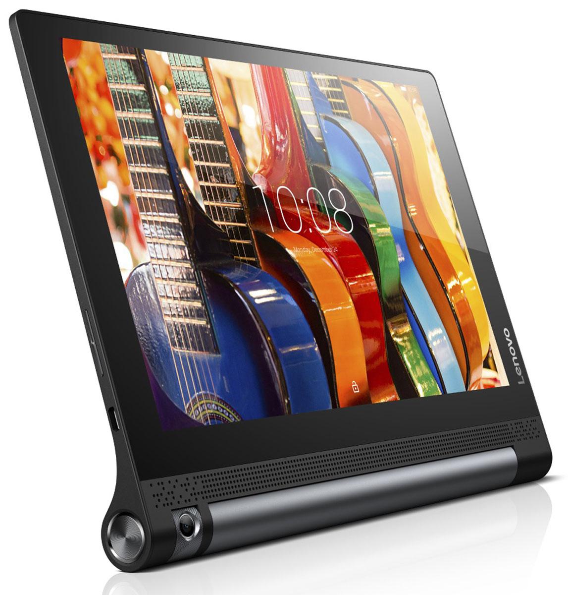 LenovoYoga Tablet 3 10 LTE, Black (ZA0K0006RU)ZA0K0006RUПросматривайте рецепты, когда готовите, проверяйте новости в социальных сетях во время обеда и смотрите фильмы во время тренировок. В инновационной конструкции планшета Yoga Tablet 3 10 цилиндрический аккумуляторный блок и подставка расположены сбоку устройства, благодаря чему центр тяжести смещен и устройство можно использовать в различных режимах: книга, клавиатура, консоль и картина.Потрясающий дисплей:HD-разрешение экрана планшета YOGA Tab 3 10 превращает его в идеального помощника для игр и веб-серфинга. Невероятная яркость обеспечивает отличное качество изображения под любым углом просмотра и при любом освещении. Изображение в играх четкое, а видео просто приятно смотреть.Аудио с эффектом присутствия:YOGA Tab 3 10 обеспечивает насыщенный объемный звук уровня домашнего кинотеатра, которым не может похвастаться ни один планшет. Два встроенных фронтальных динамика дарят мощное объемное звучание благодаря поддержке технологии Dolby Atmos. Громкий, чистый и живой звук — даже без наушников!Поворотная камера:Попробуйте новые возможности для съемки чудесных фотографий или общения по Skype c новой восьмимегапиксельной камерой планшета YOGA Tab 3 10, способной поворачиваться на 180 градусов и обеспечивающей высокую четкость изображений. Система контроля жестами позволит вам принять нужную позу и сделать снимок, просто взмахнув рукой.Рекордное время работы от аккумулятора:YOGA Tab 3 10 работает все дольше благодаря аккумулятору, бьющему все рекорды времени автономной работы. С возможностью работы до 18 часов без подзарядки вы сможете посмотреть два сезона вашего любимого сериала от начала и до конца.Технология AnyPen:Технология Lenovo AnyPen определяет любое токопроводящее устройство в качестве стилуса. Это очень удобно, когда вы используете планшет для записи заметок, зарисовок или просто не хотите пачкать экран грязными руками!Превосходные средства коммуникации:YOGA Tab 3 10 обеспечивает поддержку высокоскоростных
