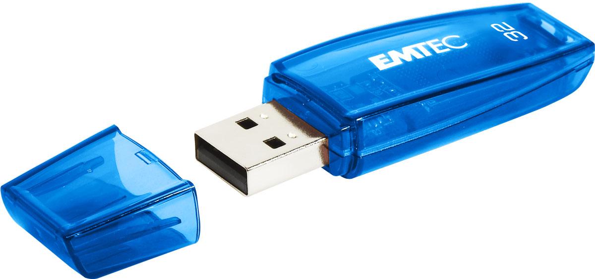 Emtec C410 32GB, Blue USB-накопительECMMD32GC410Несмотря на свои малые размеры, USB-накопитель Emtec C410 предлагает высокое качество со скоростью чтения до 15 MБ/с и скоростью записи до 5 MБ/с.