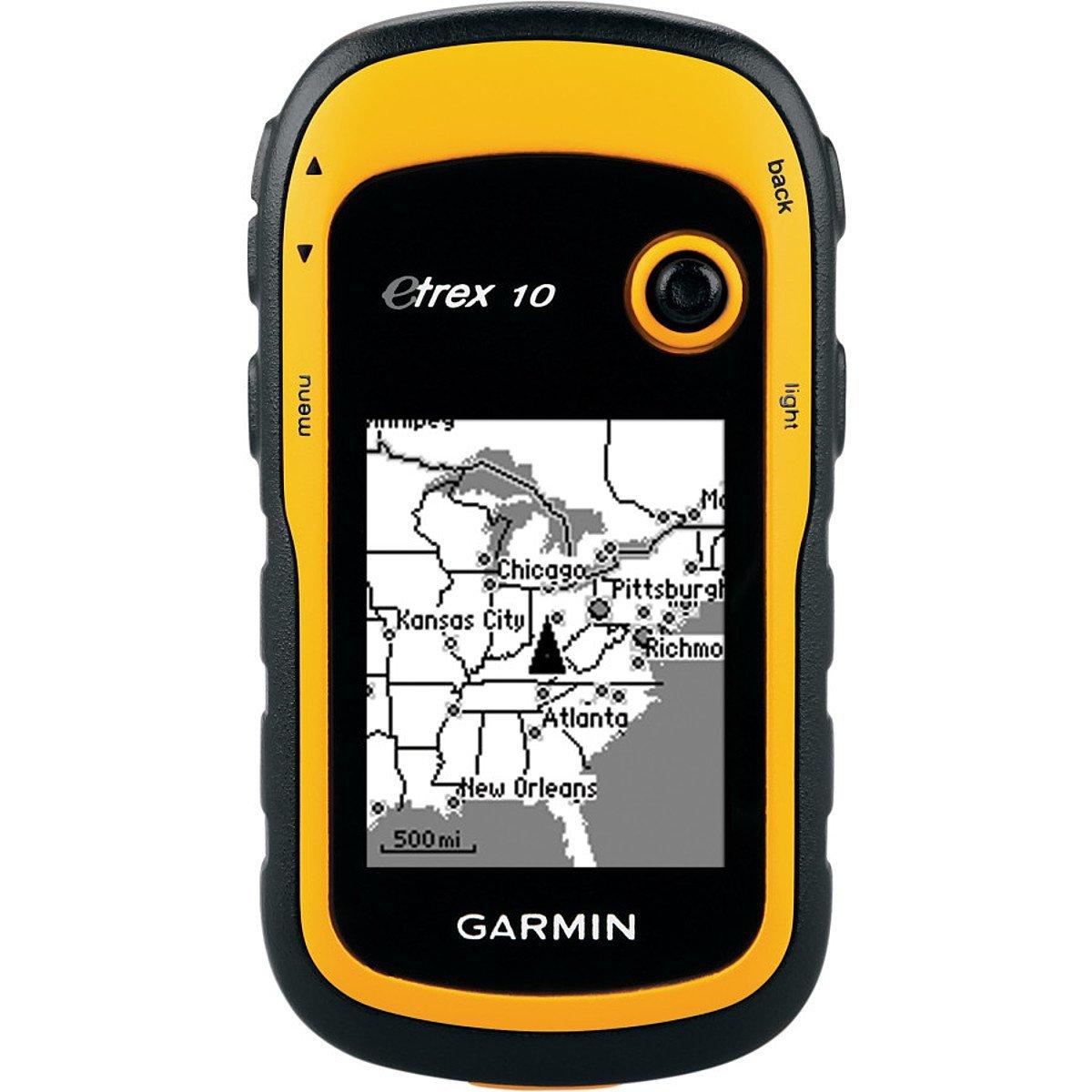 """Навигационный приемник Garmin eTrex 10 (010-00970-01)010-00970-01Навигационный приемник Garmin eTrex 10 сохраняет основные функции, прочную конструкцию, доступность и долгий срок работы батарей – те характеристики, которые делали прибор eTrex самым надежным GPS-навигатором.Данная модель оборудована улучшенным монохромным дисплеем 2.2"""", которым удобно пользоваться при любых условиях освещенности. Прочный и водонепроницаемый eTrex 10 не боится плохой погоды. Простой интерфейс пользователя означает, что вы сможете уделять большее время своей деятельности и меньшее время поиску информации. Легендарная прочность eTrex 10 делает его неуязвимым для пыли, грязи, влажности и воды.Garmin eTrex 10 поддерживает файлы геокэшинга GPX для загрузки координат и описаний тайников прямо в устройство. Отказываясь от бумажных записей, вы не только помогаете сохранить природу, но и повышаете эффективность геокэшинга. Устройство eTrex 10 хранит и отображает основную информацию, включая координаты, рельеф, уровень сложности, подсказки и описания. Таким образом, вам больше не нужно вводить координаты и описания вручную. Просто загрузите файл GPX в прибор и отправляйтесь на поиски тайников.Благодаря высокоэффективному GPS-приемнику с функцией WAAS и технологией HotFix для прогнозирования положения спутников устройство eTrex 10 быстро и точно определяет ваше местоположение и поддерживает прием сигналов даже под плотной кроной деревьев и в глубоких оврагах. Преимущество очевидно – вы можете рассчитывать на eTrex 10 и в глухом лесу, и около высоких зданий.Информация о Солнце/ЛунеРасчет площадиGarmin Connect"""