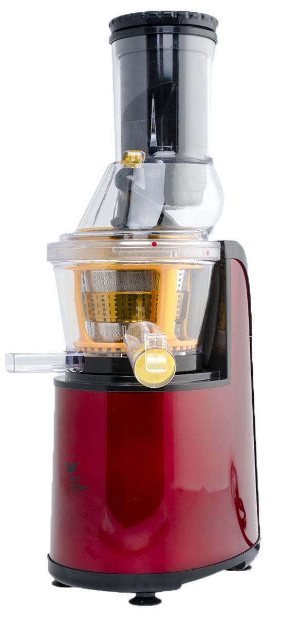 Kitfort KT-1102-2, Vinous шнековая соковыжималкаKT-1102-2 бордовыйШнековая соковыжималка KITFORT KT-1101-2 позволяет отжимать максимально возможное количество сока из фруктов, ягод, овощей и зелени с сохранением всех полезных компонентов. В отличие от обычной центробежной высокоскоростной соковыжималки, шнековая соковыжималка KITFORT работает на низких скоростях вращения, около 80 об/мин, и потребляет всего около 150 Вт. При этом, модель KT-1102-2 отжимает сок так же быстро, а низкая скорость вращения обеспечивает значительно более низкую температуру в процессе отжима, что способствует сохранению питательной ценности продуктов.