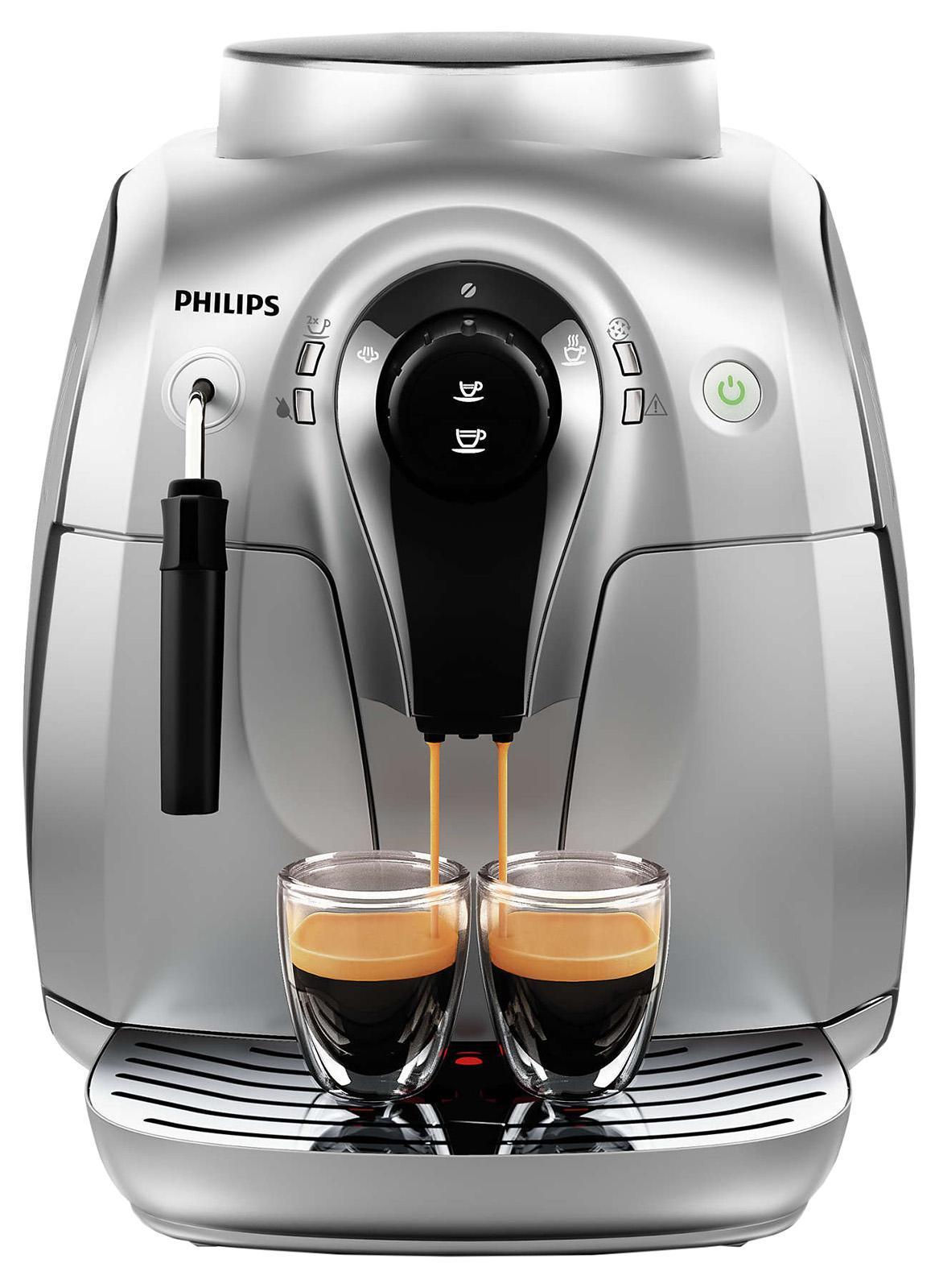 Philips HD8649/51 кофемашинаHD8649/51Эспрессо из свежемолотых кофейных зерен простым нажатием кнопки.Приготовьте одну или сразу две порции превосходного эспрессо,сваренного из свежемолотых кофейных зерен, просто нажав на кнопку иподождав несколько секунд. Потрясающий вкус благодаря 100%-нокерамическим жерновамПотрясающий вкус благодаря 100%-но керамическимжерновам. Забудьте о жженом привкусе кофе благодаря 100%-нокерамическим жерновам, которые не перегревают зерна. Керамикагарантируетдолгий срок службы и бесшумную работу. Регулируемыенастройкипомола для идеального вкуса кофеРегулируемые настройки помоладляидеального вкуса кофе Выберите одну из пяти степеней помола навашвкус — от самого тонкого для приготовления насыщенногокрепкогоэспрессо до самого грубого для более легкого вкуса. Сохранитеперсональные настройки объема напитка с помощью функциизапоминания. Благодаря функции запоминания вы можетезапрограммировать исохранить нужный объем, чтобы всегда готовить любимый кофетак,как вам нравится. Одним нажатием кнопки вы сможете сваритьвеликолепный напиток любого объема. Классический капучинатор длявеликолепной молочной пенки. Классический капучинатор, который баристаназывают панарелло, используется для приготовления с помощьюпарамягкой молочной пены для вашего капучино. Почувствуйте себябариста — готовьте вкусные молочные напитки традиционным способом!Удобный и понятный интерфейс для простого управлениякофемашиной.Интуитивно понятный и простой пользовательский интерфейс сбольшимикнопками позволяет с легкостью управлять кофемашиной, в полноймереиспользуя ее возможности. Подходит для кухни любого размераблагодаря компактности и доступу к резервуарам с фронтальнойпанели. Кофемашину невероятно удобно использовать независимо отразмера кухни: она занимает мало места,а доступ к резервуару дляводы и контейнеру для отходовосуществляется с фронтальной панели.Разработано для вашего наслаждениялюбимым кофе. Полностью съемнаяварочная группа для удобной очистки. Варочнаягруппа — этоо