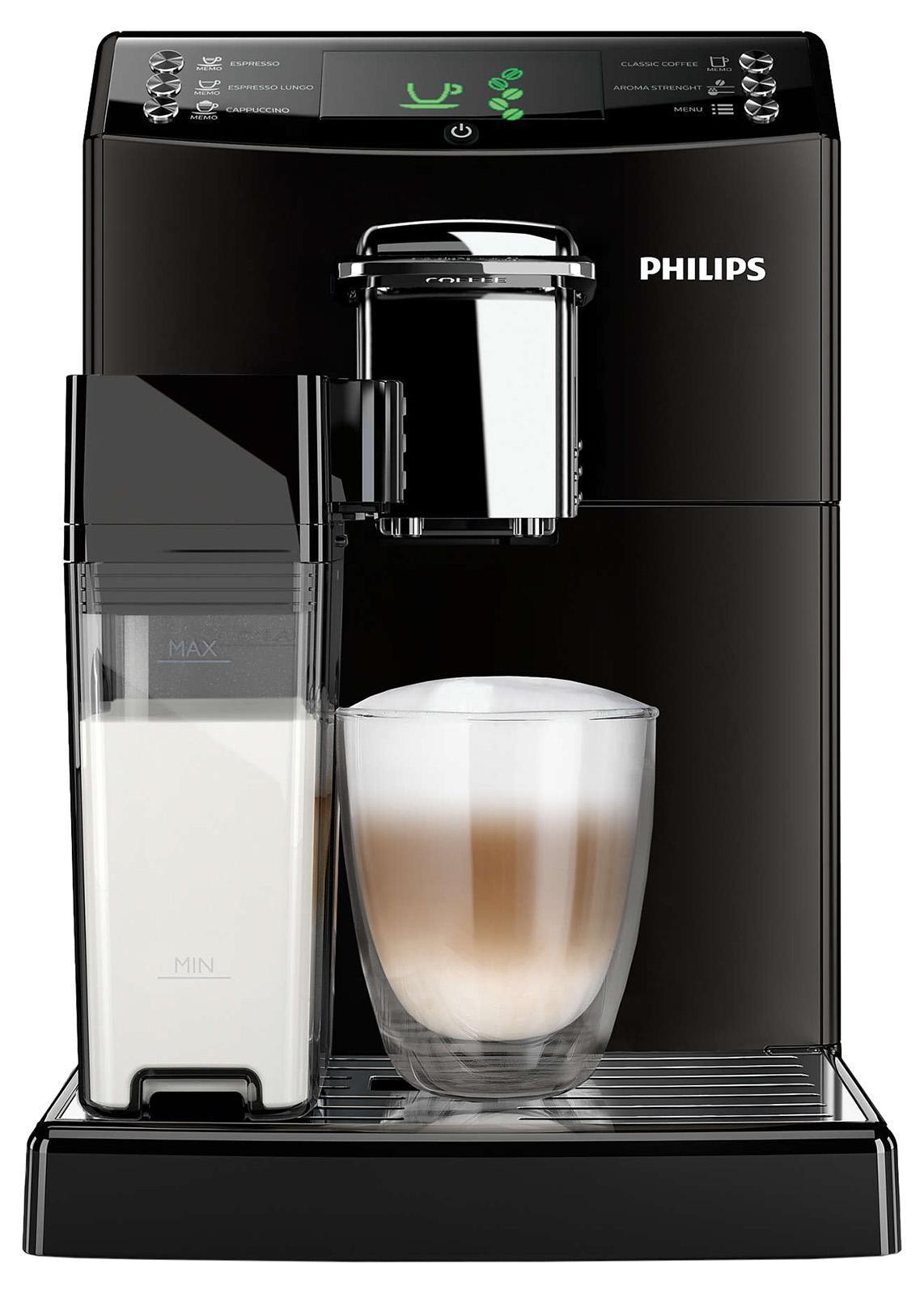 Philips HD8848/09 кофемашинаHD8848/09Эспрессо или классический кофе с помощью функции CoffeeSwitch.Превосходный вкус заварного кофе, приготовленного с помощьюавтоматической эспрессо-кофемашины! Наслаждайтесь классическим кофе по утрамили крепким эспрессо, просто изменив положение переключателя.Уникальная функция CoffeeSwitch позволяет выбирать идеальныйкофейный напиток, приготовленный из свежемолотых зерен, для любогонастроения или времени суток. Идеальный капучино с пышной молочнойпеной одним нажатием кнопки. Наслаждаться превосходным капучино,приготовленным при идеальной температуре, теперь просто как никогда.Просто наполните молочный кувшин и присоедините его к кофемашине,затем выберите свой напиток. Будет ли это капучино или простовзбитое молоко, приготовление займет всего несколько секунд. Приэтом не будет никаких брызг. Потрясающий вкус благодаря 100%-но керамическимжерновам. Забудьте о жженом привкусе кофе благодаря 100%-нокерамическим жерновам, которые не перегревают зерна. Керамикагарантирует долгий срок службы и бесшумную работу. Регулируемые настройки помола дляидеального вкуса кофе. Выберите одну из пяти степеней помола наваш вкус — от самого тонкого для приготовления насыщенногокрепкого эспрессо до самого грубого для более легкого вкуса. Приготовьте кофе посвоему вкусу, выбрав нужную крепость. Вы всегда сможетеприготовить идеальный кофе в соответствии с вашими личными предпочтениямиблагодаря настройкам температуры, объема и крепости. Кроме того, спомощью функции памяти можно сохранить разный объем для каждогонапитка. Наслаждайтесь превосходным качеством кофе,приготовленным всего одним нажатием кнопки. Интуитивно понятный дисплей дляпростого управления кофемашиной. На интуитивно понятном дисплееотображается вся необходимая информация, благодаря чему вы сможетелегко управлять кофемашиной и готовить идеальные кофейные напитки.Кнопки на фронтальной панели обозначают кофейные напитки, которыенаходятся в одном нажатии от вас. Вы сможетеиспользовать чашку любо