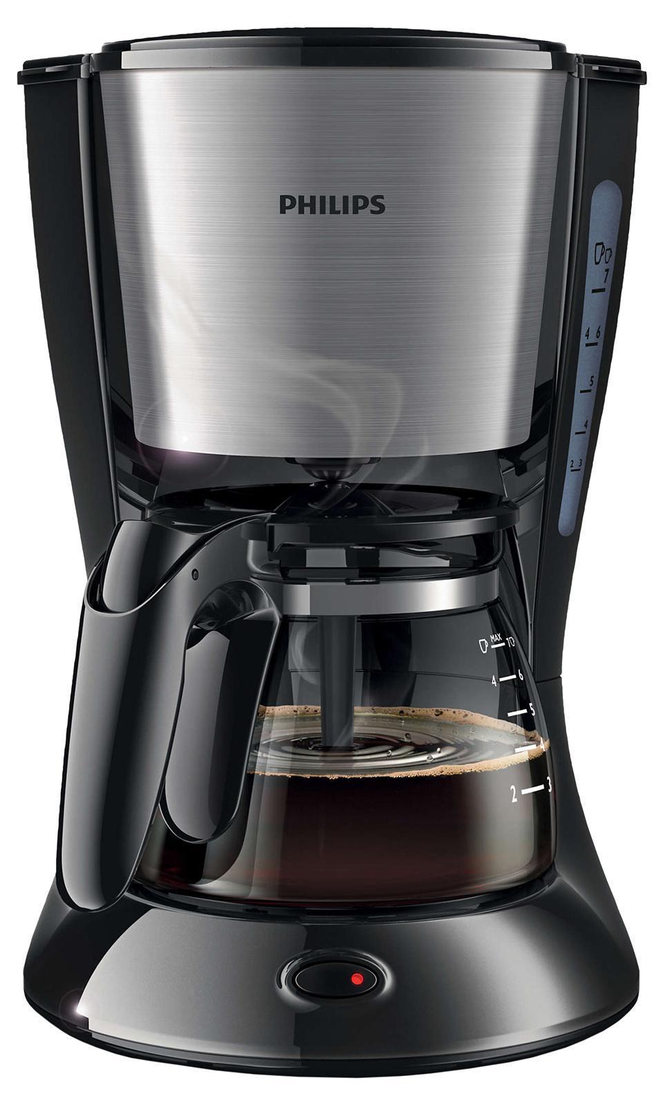 Philips HD7434/20 кофеваркаHD7434/20Функция AromaSwirl для насыщенного аромата кофе. Функция AromaSwirl перемешиваеткофе для создания насыщенного вкуса и аромата. Система капля-стоп позволяет в любой момент прервать приготовление иналить в чашку ароматный кофе Удобство очистки: съемные частиможно мыть в посудомоечной машине. Для удобной очистки все деталиэтой кофеварки Philips можно мыть в посудомоечной машине.