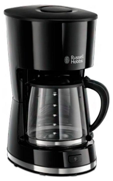 Russell Hobbs 21420-56 кофеварка21420-56Если вы любите современный дизайн так же, как и вкус свежесваренного кофе, то кофеварка Mode подойдет именно вам. Выполненная в гладком корпусе черного цвета, она обладает компактным дизайном и притягивающими взгляд акцентами из нержавеющей стали.Кофеварка приготовит до 10 больших чашек, имеет функцию пауза во время заваривания. Плита автоподогрева сохранит кофе теплым в течение часа.