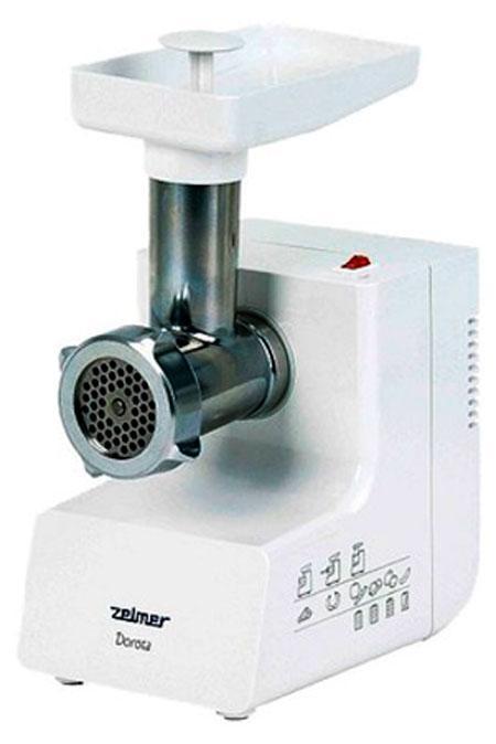 Zelmer ZMM 0805WRU, White мясорубкаZMM0805WRUНадежная и производительная мясорубка. Благодаря ситцам с отверстиями разного диаметра мясорубка позволяет перемалывать разнообразные пищевые продукты. Кроме того, мясорубка оборудована защитой от повреждения мотора, а также двусторонним ножом, которым Вы можете пользоваться в два раза дольше.