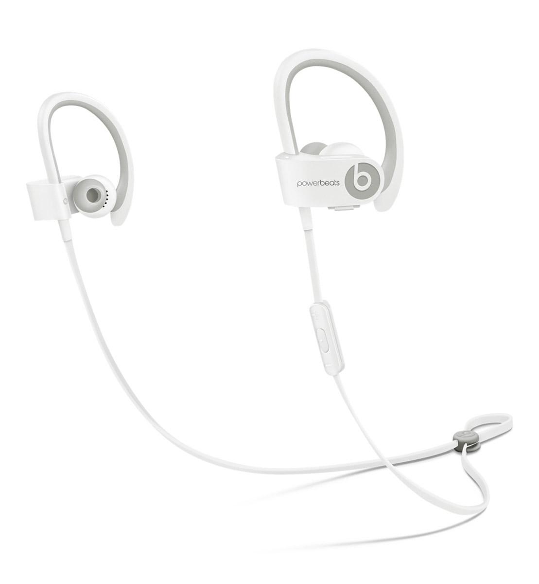 Beats Powerbeats 2 Wireless, White наушникиMHBG2ZM/AВдохновлённые Леброном Джеймсом и его упорным стремлением к совершенству, беспроводные наушники с Bluetooth Beats by Dr. Dre Powerbeats2 обладают исключительно малым весом и высокой мощностью двухполосной акустики, стимулируя вас во время тяжёлых тренировок. Созданы, чтобы выдержать все испытанияУровень пото-и водонепроницаемости IPX-4 означает, что наушники Powerbeats2 защищены, начиная от ушных вкладышей и заканчивая соединяющим наушники кабелем с защитой от спутывания. Элемент управления RemoteTalk, расположенный на соединяющем кабеле с защитой от спутывания, сделан в виде накладки, препятствующей соскальзыванию, когда вы регулируете громкость, переключаете треки или совершаете звонки.Больше свободыГде бы вы ни находились - на улице или на корте - беспроводные наушники Powerbeats2 дают вам полную свободу тренировок. Беспроводная связь Bluetooth позволяет подключаться к iPhone, iPad или iPod с поддержкой Bluetooth на расстоянии до 9,1 метра, таким образом, вы можете свободно двигаться и сосредоточиться на тренировке. Аккумулятор с 15-минутной зарядкой на шесть часов воспроизведения обеспечивает дополнительный час непрерывного прослушивания. Созданы для работыБеспроводные наушники Powerbeats2 специально созданы для тех, кто ведёт активный образ жизни: они обладают малым весом, компактны и оснащены гибким заушным крючком, обеспечивающим комфортную и надёжную фиксацию.Высота: 43,7 мм
