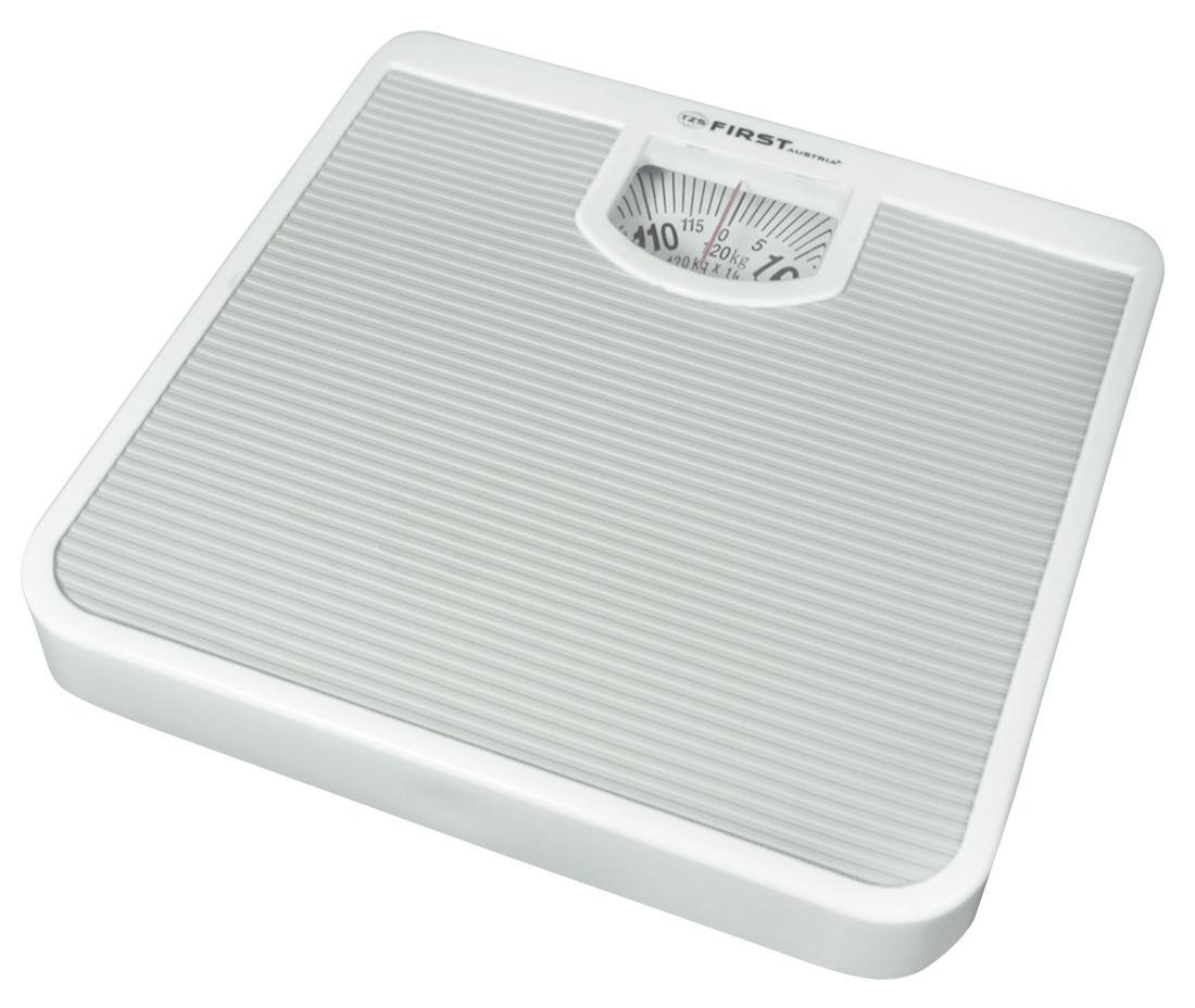 First FA-8000, White весы напольныеFA-8000 White8000 Весы напольные FIRST, механика, пластик., 120 кг, 1 кг,White