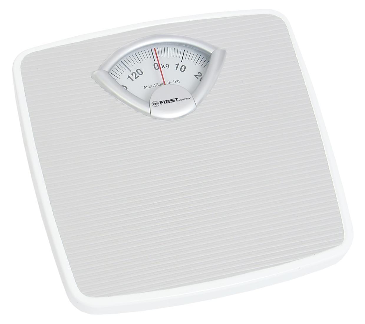 First FA-8004-1, White весы напольныеFA-8004-1 White8004-1 Весы напольные FIRST, механика, пластик., 130 кг, 1 кг, White