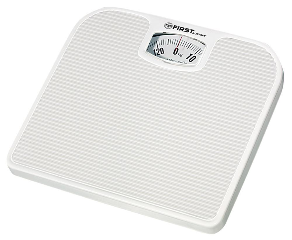 First FA-8020, White весы напольныеFA-8020 White8020 Весы напольные FIRST, механика, пластик., 130 кг, 1 кг, White