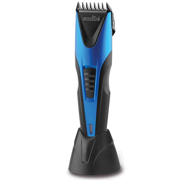 Smile НСМ 3102 машинка для стрижкиНСМ 3102Триммер для стрижки волос Smile НСМ 3102 оборудован ножами из высококачественной нержавеющей стали шириной 45 мм. Длину стрижки вы можете легко изменять за счет встроенного регулятора в диапазоне от 0,4 до 12 мм. Устройство может работать как от сети, так и от аккумулятора, при этом время полной зарядки составляет 8 часов, а время автономной работы - 60 минут.