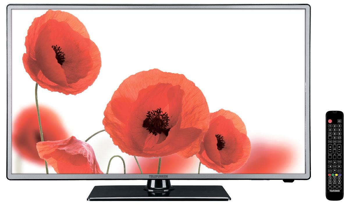 Telefunken TF-LED50S28T2 телевизор328490Новая модель Telefunken TF-LED50S28T2 прежде всего, обращает на себя внимание своим внешним видом – фронтальная часть корпуса выполнена из металла, который выглядит не только современно, но и дорого.Telefunken TF-LED50S28T2 - это Full HD-телевизор с разрешением 1920 х 1080, что даёт стабильную прогрессивную развертку изображения и насыщенную цветопередачу с глубоким чёрным цветом.Аббревиатура T2 не случайно обосновалась в названии данной модели ведь она оснащена DVB-T/T2-тюнером для приёма открытых и закрытых (через карту оператора СI/CI+) цифровых каналов. Телевизор работает с форматами DVB-T/DVB-T2/DVB-C (цифровое эфирное и кабельное вещание). Меню настроек позволяет сохранить в памяти 100 аналоговых и 400 цифровых каналов, а также программировать название канала. Telefunken TF-LED50S28T2 имеет в своём арсенале наиболее популярные и часто используемые опции – таймер включения / выключения в режиме PVR, Sleep timer, программирование каналов. Для дополнительных подключений в этой модели есть сразу 3 HDMI-разъёма, композитный вход, вход VGA, компьютерный аудиовход и выход на наушники. За звук отвечают 2 динамика мощностью до 10 Вт.Яркость: 300 кд/м2 Контрастность: 5000:1 Угол обзора: 176° / 176°Время отклика: 8, мс