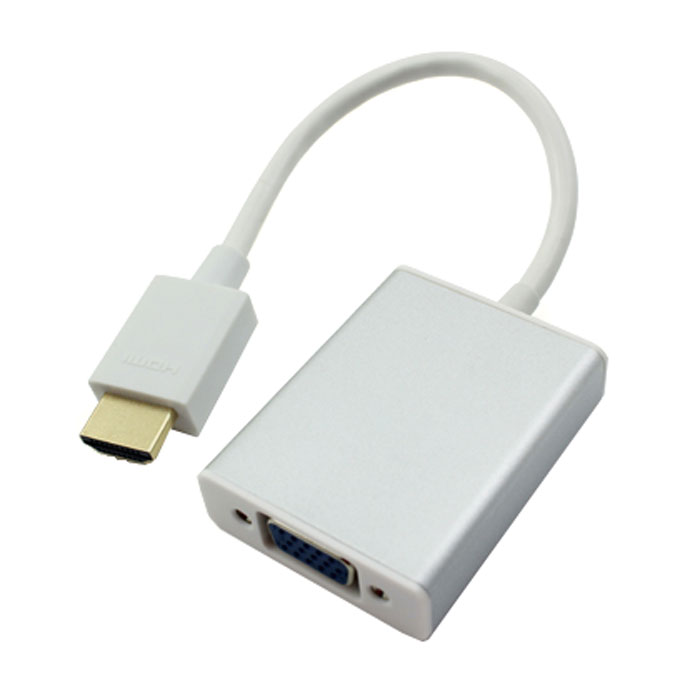 Greenconnect GC-HD2VGA3 переходник HDMI-VGAGC-HD2VGA3Переходник Greenconnect GC-HD2VGA3 предназначен для преобразования цифрового HDMI-сигнал в аналоговый VGA и стерео аудио сигналы.