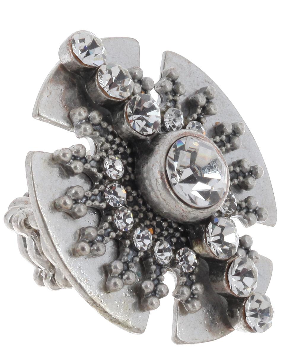 Кольцо Avgad, цвет: серебристый. EA178JW263Коктейльное кольцоОригинальное кольцо Avgad, выполненное из ювелирного сплава, дополнено стразами. Элементы кольца соединены с помощью тонкой резинки, благодаря этому оно легко надевается и снимается. Размер универсальный. Кольцо позволит вам с легкостью воплотить самую смелую фантазию и создать собственный, неповторимый образ.