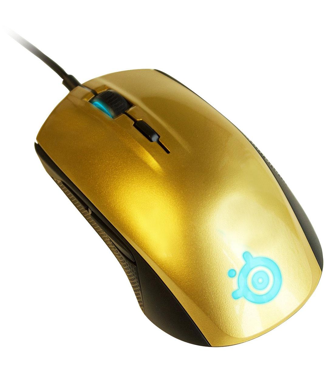 SteelSeries Rival 100, Alchemy Gold игровая мышь62336Оптическая игровая мышь SteelSeries Rival 100 обеспечит непревзойденную производительность. Не важно, это ваша первая игровая мышь, или вы давно занимаете верхние места в турнирах - SteelSeries Rival 100 вам подойдет. Полноцветная подсветка Prism, шесть кнопок, эргономический дизайн и производительность - разработчики не пожертвовали ничем. Rival 100 - единственная полностью оборудованная мышь своего класса.Профессиональные игроки в каком-то смысле зависят от точности их устройств, чтобы добиваться невероятных результатов. По их словам, мышь SteelSeries Rival 100 отвечает самым строгим требованиям. Модель создавалась в тесном сотрудничестве с киберспортсменами. Компания SteelSeries совместно с компанией PixArt создали лучший оптический сенсор 3059-SS с 8 шагами настройки CPI до 4000, показателем 143 IPS и ускорением до 20g. Результатом стало устройство, отслеживающее движения с точностью 1:1. В отличие от мышей, которые жертвуют качеством отслеживания в пользу меньшей высоты отрыва, Rival 100 предлагает только лучшие результаты.Нулевое аппаратное ускорение - это означает, что, независимо от скорости движения, курсор всегда будет двигаться без ускорения, регистрируя расстояние одинаково.С помощью программы SteelSeries Engine, игроки могут осуществлять полную настройку производительности SteelSeries Rival 100. Программируйте все 6 кнопок, устанавливайте чувствительность, настраивайте подсветку 16 с миллионами оттенков, создавайте личные конфигурации для любимых игры; они запустятся автоматически при запуске игры. Приложение GameSense поможет вам сделать настройки подсветки, чтобы она сразу отражала действия в игре.