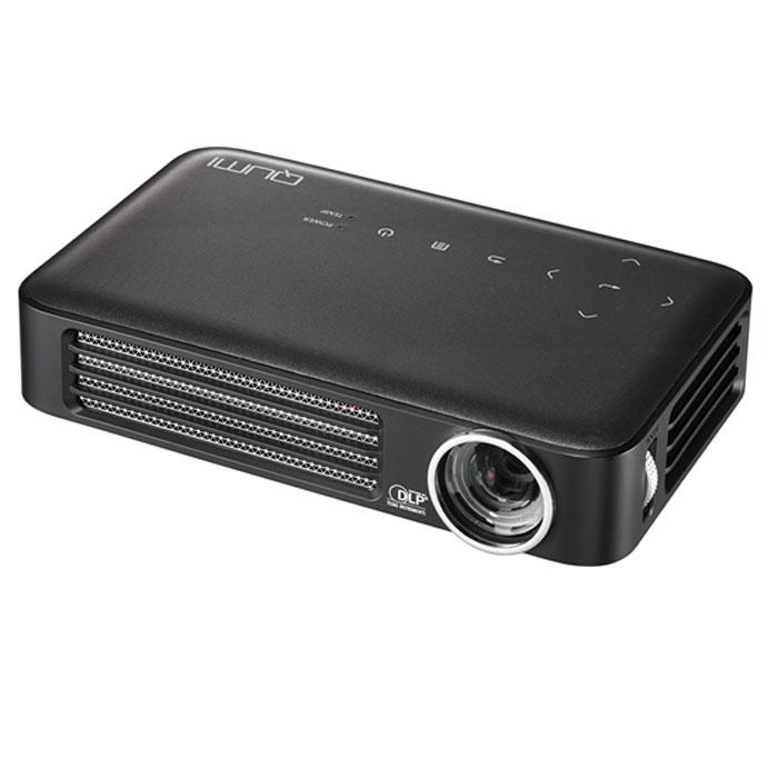 Vivitek Qumi Q6, Black мультимедийный проектор22882Проектор Qumi Q6 – это HD разрешение, расширенные возможности беспроводного подключения источников сигнала и стильный внешний вид. При этом, вы с легкостью уберете Q6 в карман пиджака!Новинка специально разработана для полной совместимости с различными мобильными устройствами и прекрасно подойдет тем, кто желает демонстрировать контент на экран с диагональю 100 дюймов.Проектор обладает высоким световым потоком в 800 ANSI Lm и контрастностью 30 000:1. В качестве источника света Qumi Q6 использует светодиоды с временем непрерывной работы 30 000 часов, а это многие годы уверенной работы без снижения яркости и качества цветопередачи.В Qumi Q6 установлен порт MHL, позволяющий передавать цифровой контент со смартфонов и планшетов. Встроенный медиаплеер понимает огромное количество различных форматов видео, аудио, файлов изображения и электронных документов.Для тех, кто хочет использовать Q6 без источника сигнала, отличную службу сослужат встроенные 4 GB флеш-памяти, куда можно перенести все необходимое.Модуль Wi-Fi для беспроводного соединения с источником сигнала уже встроен в проектор и позволяет проецировать несжатый HD сигнал с устройств как на основе Android, так и iOS.Управление проектором можно, также, осуществлять с мобильного устройства Android или Apple, используя специальное, бесплатное приложение.В дополнении к широчайшему списку возможностей новинки добавляется встроенный 2-ваттный динамик, позволяющий просматривать мультимедийный контент без использования отдельной аудиосистемы.Встроенный просмоторщик документов MS Office и Adobe PDFПроецирование контента с внешних флеш-дисков или из встроенной флеш-памятиИспользование до 4 внешних источников сигнала одновременно с трансляцией на экран в режиме сплит картинки (требуется приложение EzCast Pro)Сенсорные кнопки управления на корпусе с подсветкойЧип: 0.45 DMDМаксимальное поддерживаемое разрешение: 1600x1200Проекционная система: DLPПроекционное отношение: 1.55 : 