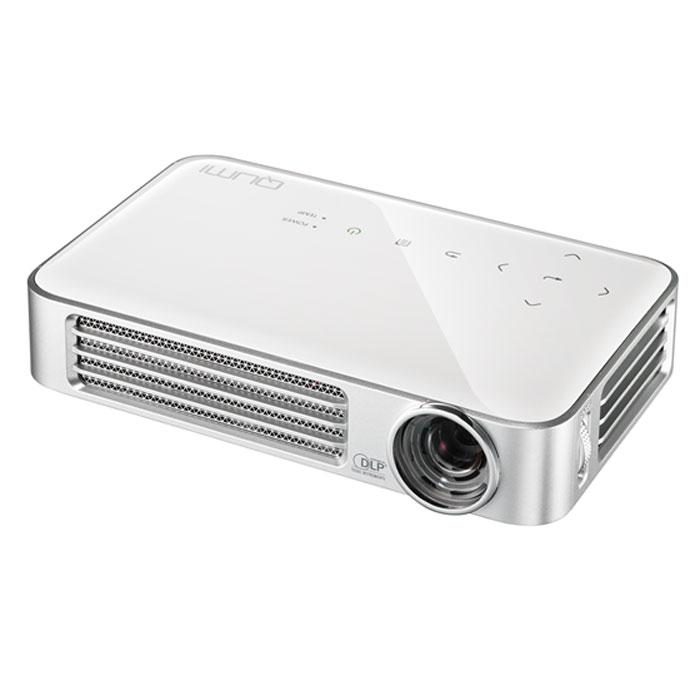 Vivitek Qumi Q6, White мультимедийный проектор22883Проектор Qumi Q6 - это HD разрешение, расширенные возможности беспроводного подключения источников сигнала и стильный внешний вид. При этом, вы с легкостью уберете Q6 в карман пиджака!Новинка специально разработана для полной совместимости с различными мобильными устройствами и прекрасно подойдет тем, кто желает демонстрировать контент на экран с диагональю 100 дюймов.Проектор обладает высоким световым потоком в 800 ANSI Lm и контрастностью 30 000:1. В качестве источника света Qumi Q6 использует светодиоды с временем непрерывной работы 30 000 часов, а это многие годы уверенной работы без снижения яркости и качества цветопередачи.В Qumi Q6 установлен порт MHL, позволяющий передавать цифровой контент со смартфонов и планшетов. Встроенный медиаплеер понимает огромное количество различных форматов видео, аудио, файлов изображения и электронных документов.Для тех, кто хочет использовать Q6 без источника сигнала, отличную службу сослужат встроенные 4 GB флеш-памяти, куда можно перенести все необходимое.Модуль Wi-Fi для беспроводного соединения с источником сигнала уже встроен в проектор и позволяет проецировать несжатый HD сигнал с устройств как на основе Android, так и iOS.Управление проектором можно, также, осуществлять с мобильного устройства Android или Apple, используя специальное, бесплатное приложение.В дополнении к широчайшему списку возможностей новинки добавляется встроенный 2-ваттный динамик, позволяющий просматривать мультимедийный контент без использования отдельной аудиосистемы.Встроенный просмоторщик документов MS Office и Adobe PDFПроецирование контента с внешних флеш-дисков или из встроенной флеш-памятиИспользование до 4 внешних источников сигнала одновременно с трансляцией на экран в режиме сплит картинки (требуется приложение EzCast Pro)Сенсорные кнопки управления на корпусе с подсветкойЧип: 0.45 DMDМаксимальное поддерживаемое разрешение: 1600x1200Проекционная система: DLPПроекционное отношение: 1.55 : 