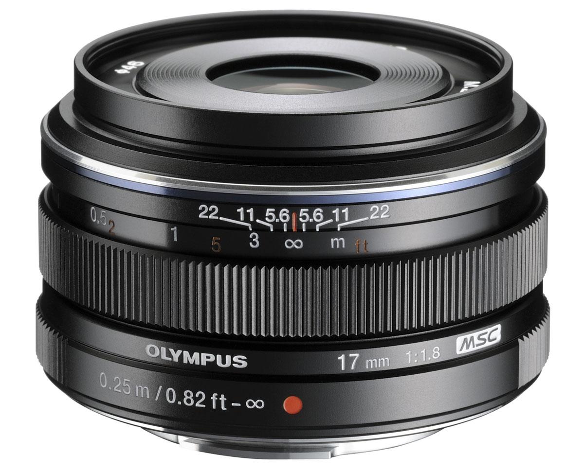 Olympus M.Zuiko Digital 17mm f/1.8, Black объективV311050BE000Объектив Olympus M.Zuiko Digital 17мм 1:1,8 (34мм) гарантирует отличное качество, оставаясь при этом невероятно компактным и легким. Высокая светосила 1:1,8 позволит не только получить отличное размытие фона, но и обеспечит отличный результат при низком освещении без использования штатива. Дополнительную поддержку обеспечит встроенный стабилизатор камер Olympus стандарта Микро 4/3. Помимо потрясающей светосилы 1:1,8 этот премиальный объектив стандарта Микро 4/3 предлагает широкий угол обзора, уникальный механизм фокусировки для спонтанной съемки, поддержку технологии MSC для бесшумной фокусировки при съемке видео и покрытие линз ZERO.Особенности:Механизм фокусировки для спонтанной съемкиВысокоскоростной автофокус с технологией MSCВысококачественный металлический корпус Покрытие линз ZERO (Zuiko Extra-low Reflection Optical) Отличные возможности съемки при низком освещении и красивое боке