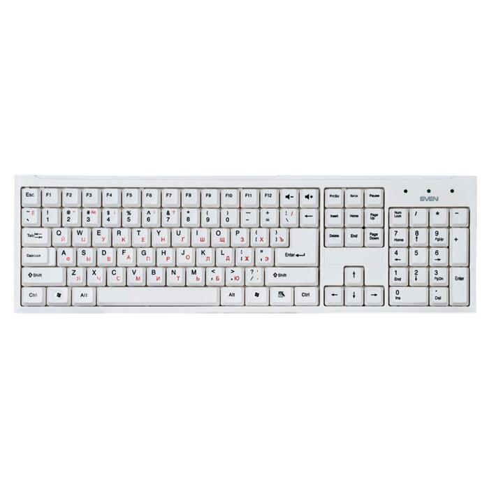 Sven Standard 303 USB, White клавиатураSV-03100303UWМодели Sven Standard 303 - это неприхотливые рабочие лошадки, надежные и легкие в использовании. Классическая печатная раскладка содержит символы латиницы (белого или черного цветов, в зависимости от цвета клавиатуры) и кириллицы (светло-кораллового оттенка).Устройства ввода оснащены интерфейсами USB. Их установка осуществляется автоматически после подключения к USB-порту ПК. Высококачественная мембрана и тихий ход клавиш обеспечивают легкое и мягкое нажатие кнопок. С таким решением ваши пальцы будут летать по клавиатуре. Модели также оснащены кнопками, позволяющими регулировать громкость звука.