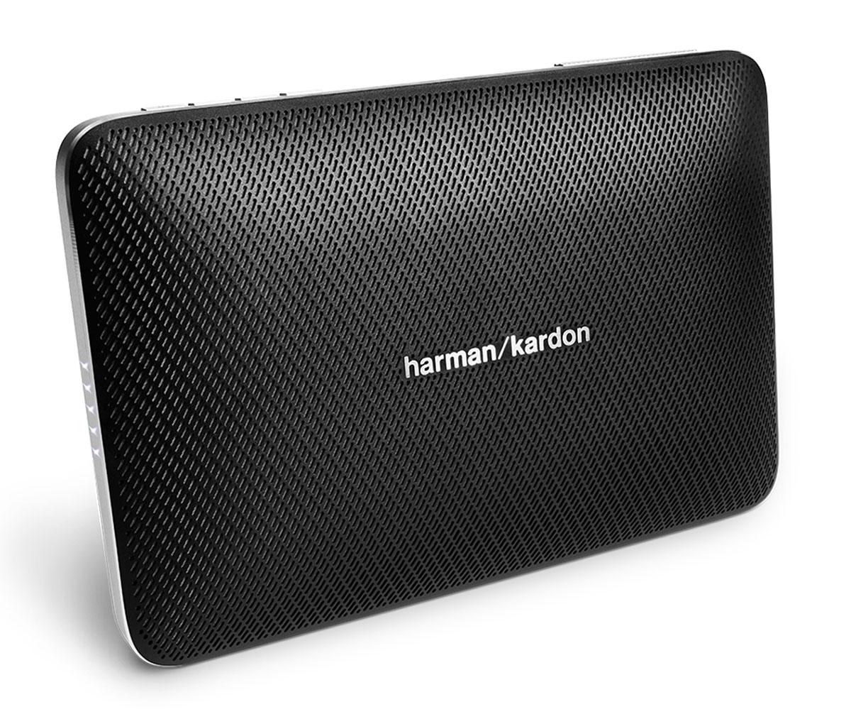 Harman Kardon Esquire 2, Black портативная акустическая системаHKESQUIRE2BLKHarman Kardon Esquire 2 - беспроводная Bluetooth-колонка, ставшая сосредоточением мастерства и производительности, высококачественных материалов и современных возможностей.Данная модель обеспечивает богатое высококлассное звучание благодаря передовым разработкам в акустике и четырем профессионально настроенным динамикам. Эта портативная колонка обладает технологией Bluetooth для беспроводного соединения, а также USB-портом для подзарядки телефонов и других устройств.Еще одно отличие Esquire 2 - беспрецедентная система конференцсвязи. Под цельным алюминиевым корпусом расположились четыре микрофона с технологией эхо- и шумпоподавления VoiceLogic с окружающим звучанием 360 градусов. Вы услышите все до последней буквы – даже в самых шумных местах. Исполненный в тонком форм-факторе и невесомом дизайне, Esquire 2 легко скользнет в чемодан или сумочку, но также станет центром притяжения в конференц-зале.Необязательно все время держать динамик в руках – откиньте подставку и поставьте Harman Kardon Esquire 2 на стол. Тогда ни одна нота не будет утеряна.Harman Kardon Esquire 2 обладает лучшим качеством звука в своей категории и отличается уровнем производительности, который, казалось бы, противоречит его удобному компактному размеру. Мощный объемный звук в малогабаритном динамике? Harman Kardon снова делает это.Динамики: 4 x 32 мм Аккумулятор: 3200 мАч
