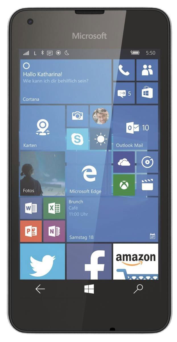Microsoft Lumia 550, WhiteA00026498Смартфон Microsoft Lumia 550 - это все возможности Windows 10 по приемлемой цене. Благодаря поддержке сетей 4G (LTE), эффективной многозадачности и абсолютно новому браузеру Microsoft Edge вы сможете быстрее получать нужную вам информацию.На Lumia 550 установлена последняя версия любимых приложений Office. Word, Excel и PowerPoint оптимизированы для использования на мобильных устройствах. Они идеально работают на телефоне, а благодаря разнообразным встроенным средствам редактирования новое приложение Outlook Mail позволяет легко работать с почтой в дороге.Благодаря Windows 10 на Lumia 550 вы получите доступ к великолепным сервисам и приложениям Microsoft, уже знакомым вам по их версиям для компьютера. Благодаря OneDrive вы сможете бесплатно и безопасно хранить документы в облаке и беспрепятственно получать доступ к ним с возможностью редактирования на своем телефоне.Lumia 550 создан для сетей 4G (LTE), поэтому вы сможете передавать данные с ошеломительной скоростью и, как результат, решать больше своих задач. Все открытые приложения идеально работают в режиме многозадачности благодаря четырехъядерному процессору Qualcomm Snapdragon, а красивый HD-дисплей с диагональю 4,7 дюйма отлично подходит для просмотра документов и фотографий. При этом цена смартфона не станет угрозой вашему бюджету.Встречайте новый день, не волнуясь о том, что ваш телефон может разрядиться. Благодаря мощному аккумулятору 2100 мАч, заставке со сверхнизким энергопотреблением, на которой вы можете просматривать уведомления, не включая телефон, и эффективному режиму экономии заряда, Lumia 550 будет работать в течение всего вашего дня.Телефон сертифицирован Ростест и имеет русифицированный интерфейс, меню и Руководство пользователя.