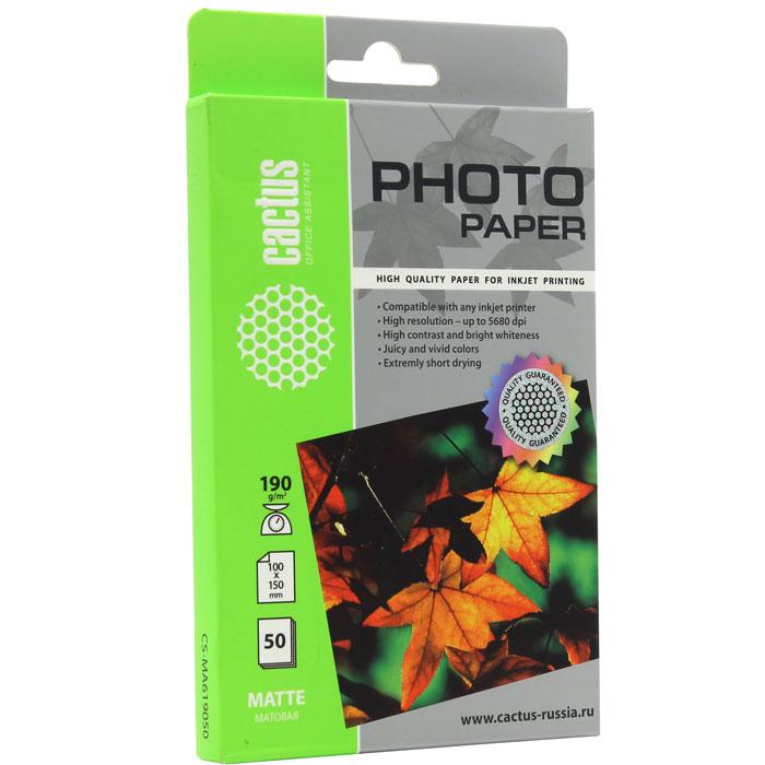 Cactus CS-MA619050 матовая фотобумагаCS-MA619050Cactus CS-MA619050 - фотобумага для высококачественной печати с матовым покрытием поверхности. Бумага обеспечивает насыщенные цвета, мгновенное высыхание чернил, долговечность отпечатков. Совместима как с пигментными, так и с водорастворимыми чернилами.