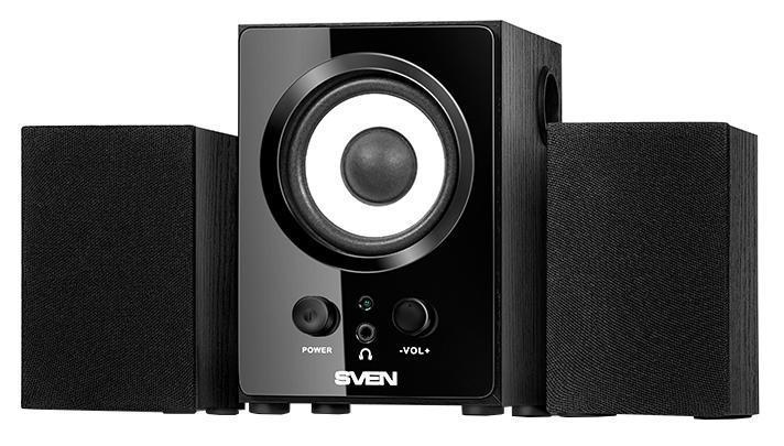 Sven MS-80, Black акустическая система 2.1 с сабвуфером