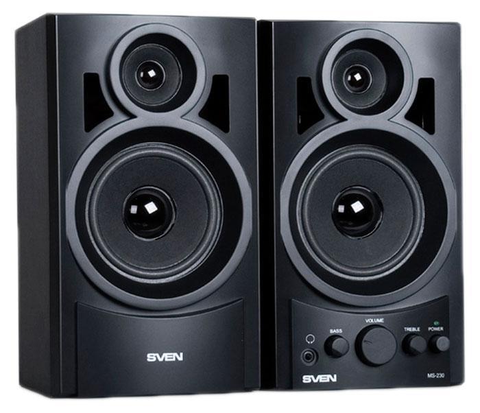 Sven MS-230, Black акустическая система 2.0