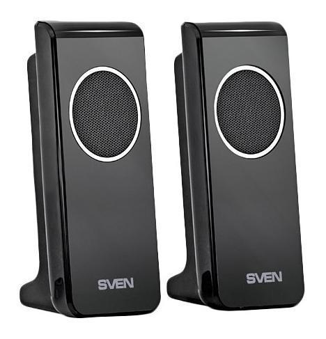 Sven 314, Black акустическая система 2.0SV-0110314BKВ SVEN 314 применена технология Ultra Sound System (USS). Встроенный мостовой усилитель обеспечивает колонки мощностью в четыре раза большей, чем в классических усилителях класса AB. Это позволяет модели поддерживать высокое качество звука при своих миниатюрных габаритах. Выходная мощность составляет 4 Вт.Для удобства основные функции управления вынесены на боковую панель. Такое расположение разъемов для гарнитуры и регулятора громкости имеет свои преимущества. С одной стороны, отсутствие дополнительных элементов на лицевой стороне концентрирует внимание на оригинальном внешнем виде акустики, с другой – облегчает пользователю работу с колонками. Питание модели осуществляется с помощью USB-порта. Благодаря разъему мини-джек 3,5 мм SVEN 314 подключается к различным источникам звукового сигнала (ПК, ноутбук, нетбук).Модель имеет яркий дизайн. Черная глянцевая поверхность придает форме элегантность. Эти стильные колонки будут удачно смотреться на рабочем столе рядом с любым мультимедийным устройством.