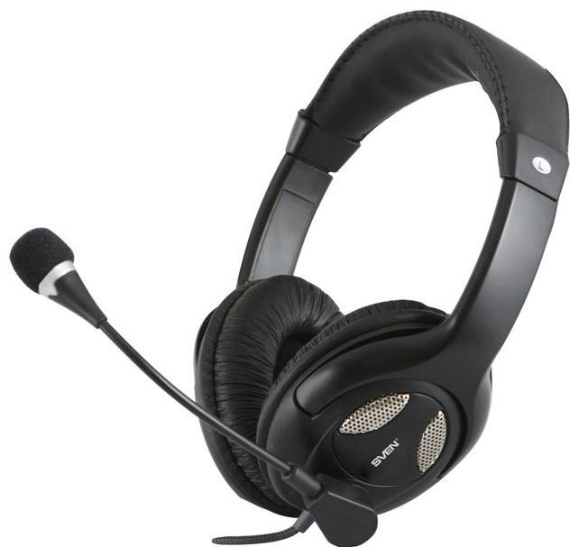 Sven AP-670MV, Black наушники с микрофономSV-0410670MVМодель относится к категории наушников полуоткрытого типа. Это значит, что звук в SVEN AP-670MV прозрачный и натуральный, близкий к тому, который дают наушники открытого типа. При этом пользователь защищен от большого количества внешних шумов, так как в гарнитуре предусмотрена хорошая звукоизоляция. Благодаря подвижному держателю пользователь может установить микрофон на комфортное для себя расстояние или, при необходимости, сложить к оголовью. Громкость звука можно настроить с помощью регулятора, находящегося на кабеле. В модели используется тканевая оплетка провода, которая предотвращает его скручивание. Комфортную «посадку» гарнитуры на голове обеспечивают амбушюры из искусственной кожи и упругое регулируемое оголовье. Модель станет отличным помощником в интернет-телефонии и в тех сетевых играх, где важно координировать действия со своими партнерами по команде. Она также справится с такими задачами, как звуковое сопровождение компьютерных игр, воспроизведение музыки и просмотр фильмов на ПК или ноутбуке. Модель имеет стандартные разъемы mini-jack 3,5 мм и совместима с ПК и ноутбуками. Дизайн SVEN AP-670MV разработан с учетом основных трендов, присутствующих на рынке портативной акустики. Гарнитура выполнена в черном цвете, пользующимся наибольшей популярностью среди покупателей. В центре чашечек с внешней стороны расположены серебристые вставки. Такое цветовое сочетание является признанной классикой, которая всегда в моде. Помимо всех перечисленных характеристик, SVEN AP-670MV может порадовать покупателей доступной ценой.Особенности Регулируемое оголовье Поворотный микрофонный держатель Удобные амбушюры Регулятор громкости на кабеле Чувствительность наушников: 106 ± 4 дБ